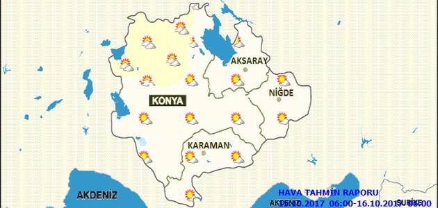 Konya ve çevresinde sıcaklık 4 derece düşecek