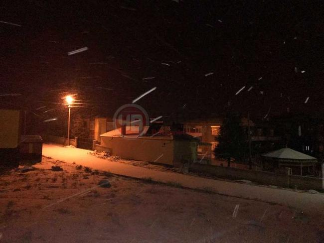 Yeniceoba'da Kar Yağışı Ocak 2018