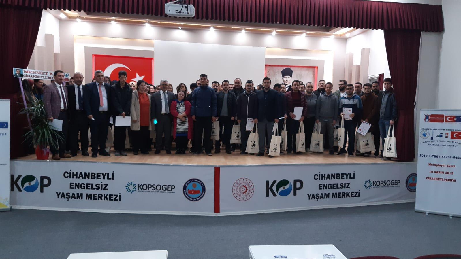 """""""YETENEĞİME ENGEL KOYMAK İSTEMİYORUM"""" Cihanbeyli'de Erasmus Projesi sonuç toplantısı"""