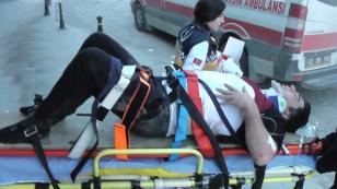 Ömeranlı'da trafik kazası 1 kiş yaralandı