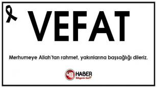 Yeniceoba'da Vefat Zeynep Dedeoğlu