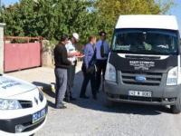 Kulu'da Öğrenci Taşımacılığı Yapan Minibüsler Denetleniyor