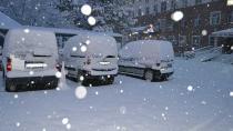 Kulu'da kar yağışı etkili oldu