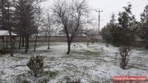 Yeniceoba'da Mart ayında kar yağışı