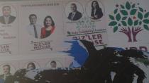 Cihanbeyli'de Hdp Afişlerine Zarar Verildi