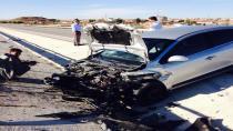 Cihanbeyli'de Uyuyan sürücü kazayı ucuz atlattı.