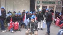 Cihanbeyli Pan-Plast işçileri kendilerini zincirledi!