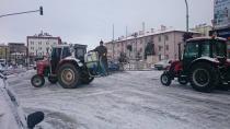 Cihanbeyli'de Kar Temizleme Çalışmaları