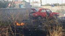 Konya'da otoparkta yangın! 7 araç zarar gördü