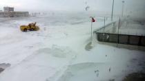Konya'da Uçuşlara Kar Engeli