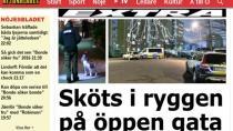 Malmö'de sokak ortasında bir kişi vuruldu