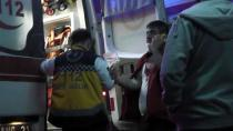 Kulu'da Patlayan fleks taşı iki kişiyi yaraladı