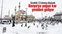 Konya için yoğun kar yağışı uyarısı
