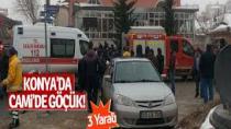Son dakika Konya'da caminin çatısı çöktü: Yaralılar var