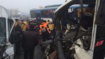 Konya'da 40 araç birbirine girdi