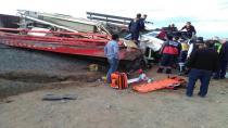 Çöl Yaylasında Trafik Kazası ; 1 Ölü 1 Yaralı