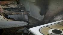 Karacadağ'da Ev Yangını