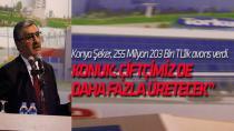 Konya Şeker'den 255 Milyon 203 Bin TL'lik avans
