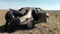 Lastiği Patlayan Otomobil Takla Attı 1 Kişi Yaralandı