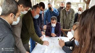 Mehmet Kale, Yeniceoba'daki çalışmaları yerinde inceledi