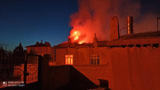 Yeniceoba'da çıkan yangında ev kül oldu